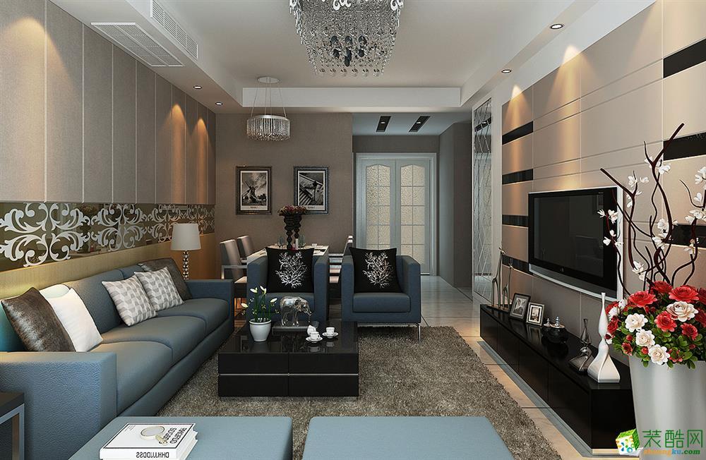 苏州110�O三室两厅两卫装修―冠南苑现代风格设计效果图