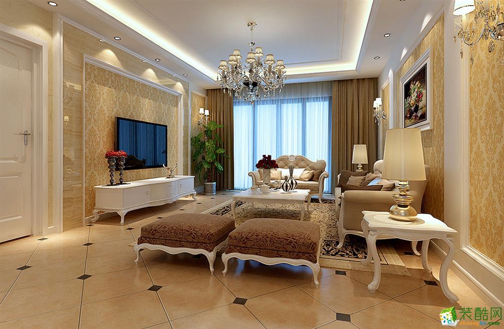 苏州苏州118�O三室两厅装修―保利观湖国际简欧风格设计效果图