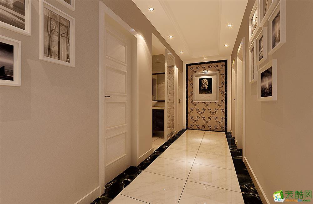 苏州90�O三室一厅一卫装修―中央景城现代风格设计效果图