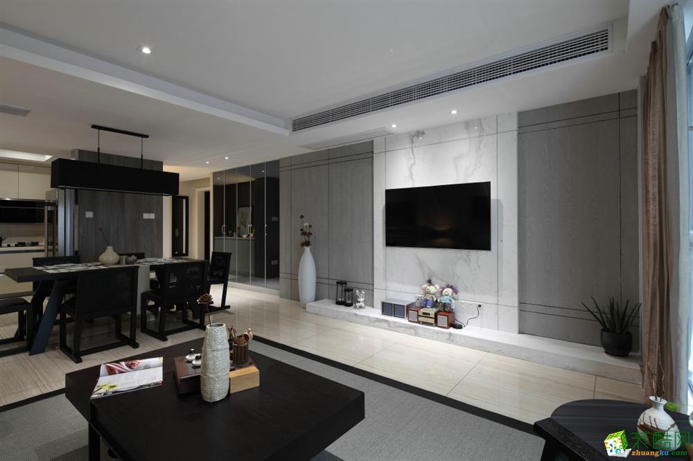 155平米四居室现代风格装修效果图_现代四室两厅两卫
