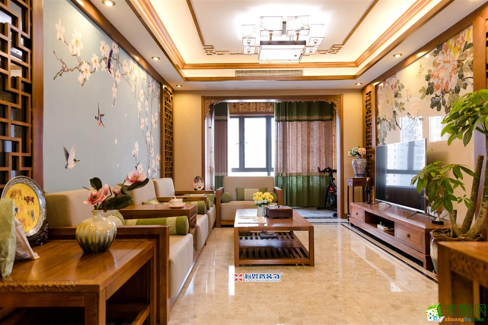 融汇半岛・江上公馆|102m2(中式风格)完工