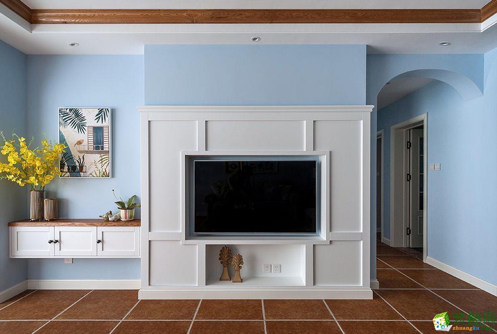 重庆 海阔天空143平米地中海风格三室两厅一厨一卫案例装修效果图赏析--佳天下装饰