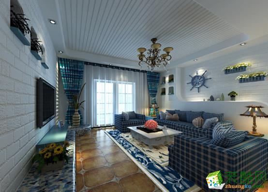 天津130方三室两厅田园风格设计装修效果图