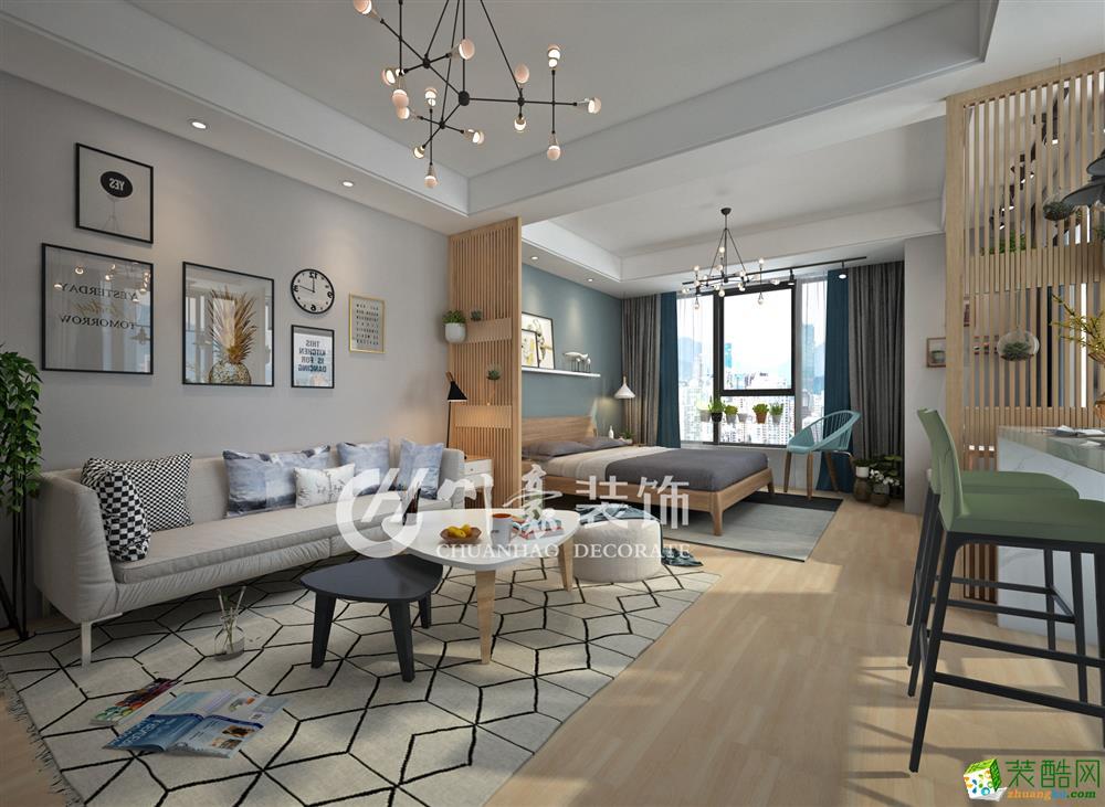 >> 合肥萬達公寓56平現代北歐風格裝修效果圖