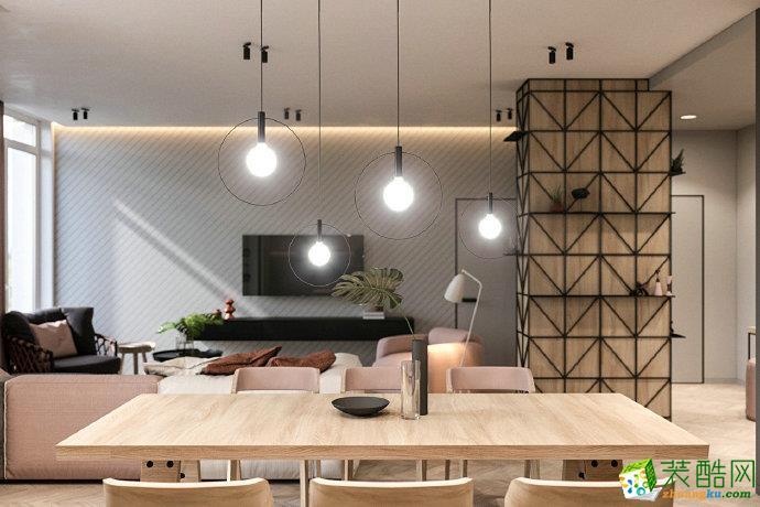 重庆 鲁能领秀城85平米现代风格两室两厅案例装修效果图赏析-佳天下装饰