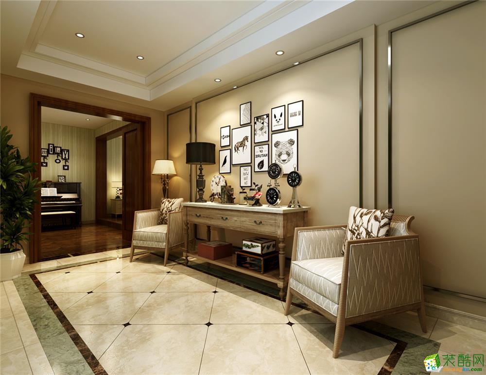 上海 漓江山水300平米歐式風格別墅整裝案例裝修效果圖-騰龍裝飾
