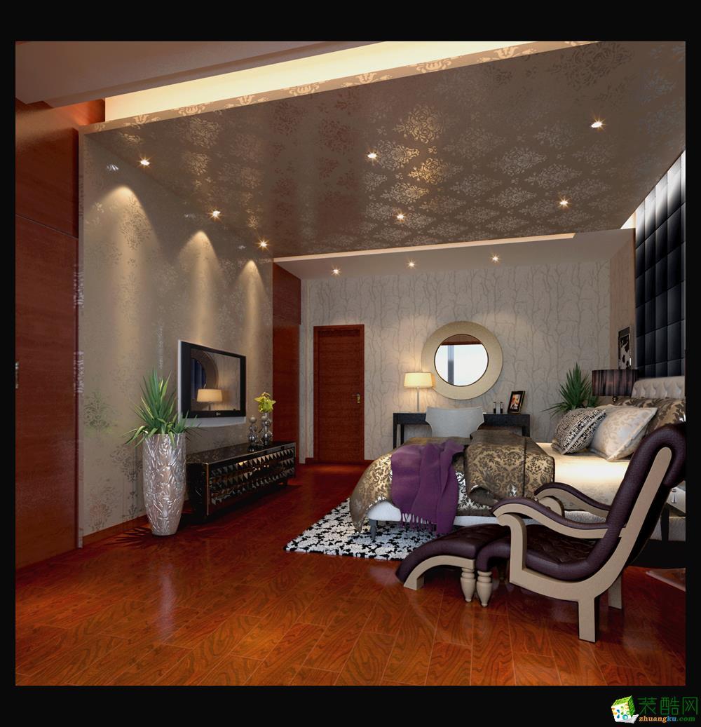 天津120平米三室两厅一卫装修―中信中式风格作品