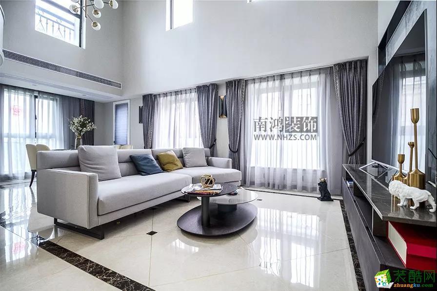 【南鸿案例】杭州中外公寓210方四室两厅两卫现代风效果图