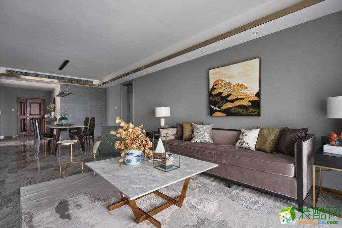重庆 保利香雪100平米现代风格两室两厅一厨一卫案例咨询者效果图-佳天下装饰