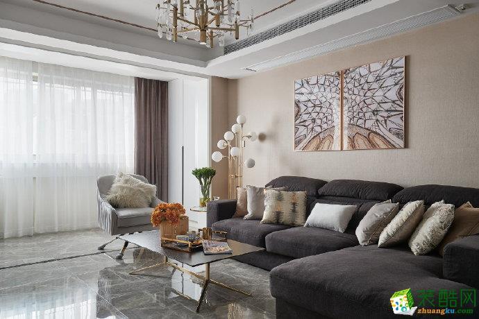 重庆 书香溪墅120平米豪华风格三室两厅一厨一卫案例装修效果图-佳天下装饰