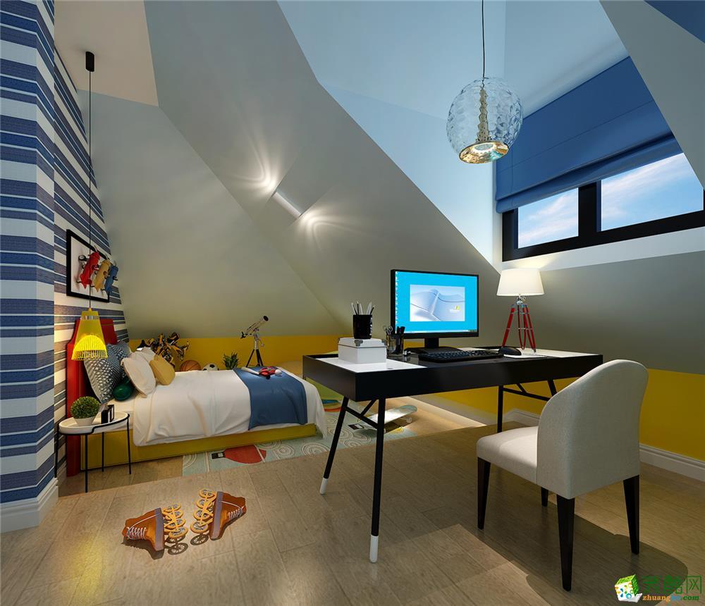 >> 上海 圣堡500平米后现代风格别墅案例装修效果图-腾龙装饰