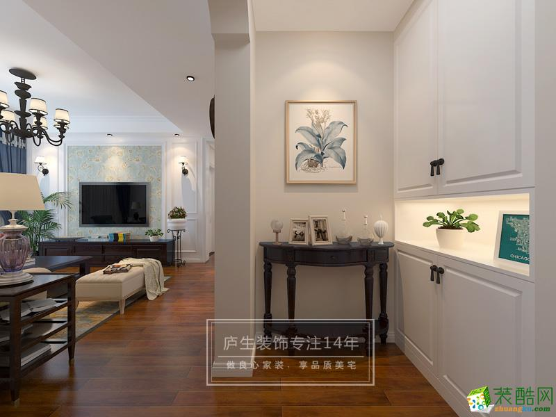 >> 合肥三室一厅装修—依澜雅居94平米美式风格装修效果图