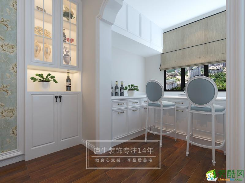 软装饰 【北阳台吧台区】将原有的小北阳台改造为吧台休闲区,既可作为