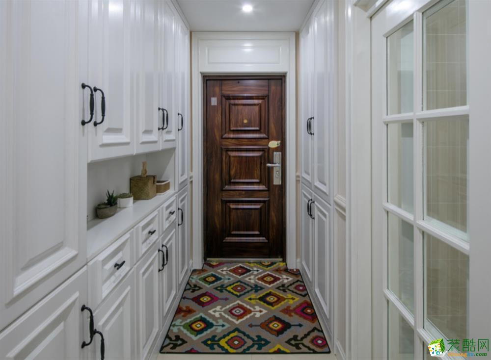 成都 南湖逸家135平米美式风格三室两厅一厨两卫案例装修效果图赏析-丰立装饰