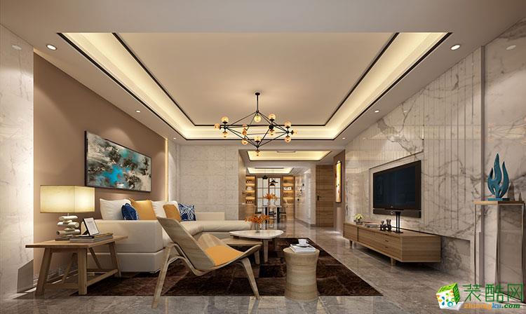 >> 南宁130平米三室两厅两卫装修—霖峰壹号现代风格装修效果图
