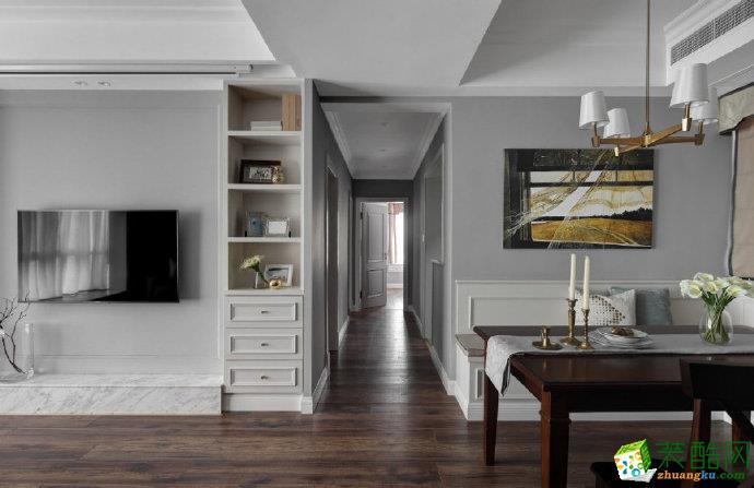 重庆 90�O清新自然的现代简约三室两厅一厨一卫案例装修效果图赏析-佳天下装饰