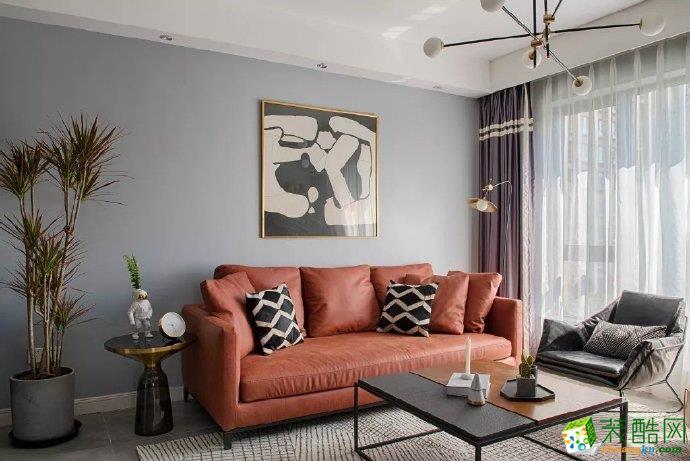 重庆83㎡清新北欧风格两室两厅一厨一卫案例装修效果图-佳天下装饰