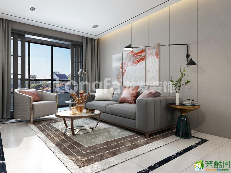 南宁89�O三室一厅一卫装修―联发君澜现代简约风格装修效果图