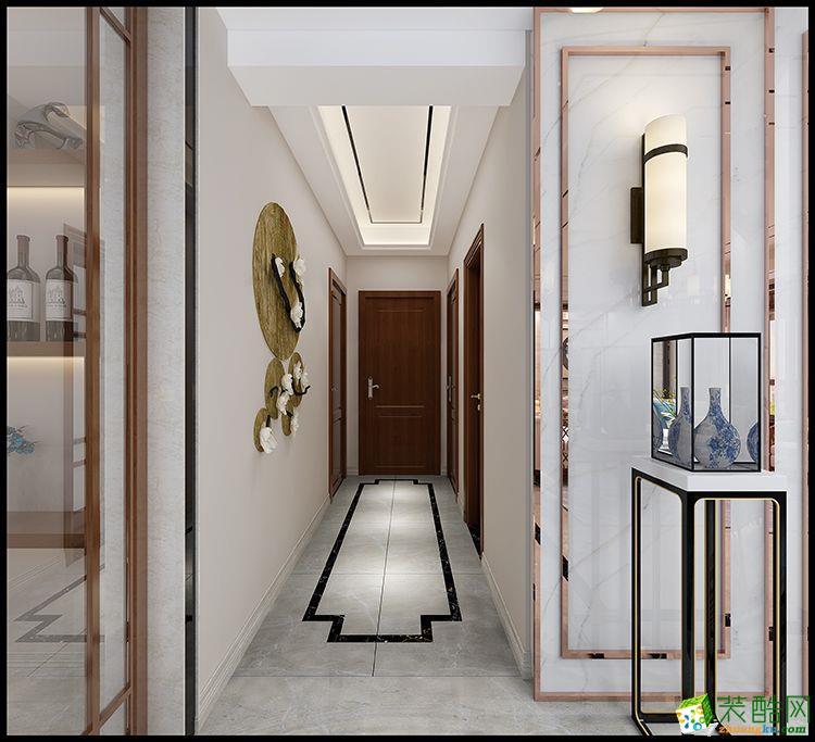 【北道装饰】155平方新中式风格装修效果图