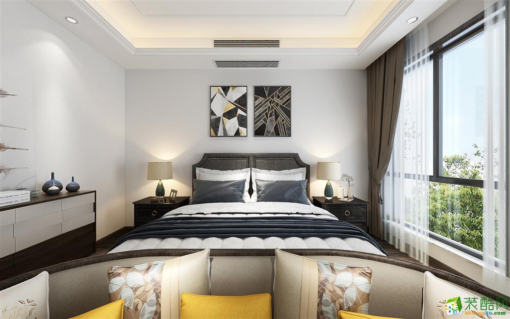 重庆 听蓝湾290平米现代风格跃层住宅案例装修效果图-美的家装饰