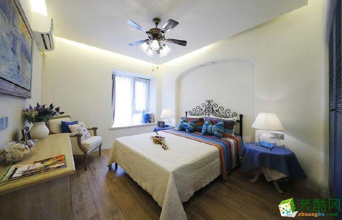 重庆100�O地中海风格两室两厅一厨一卫装修设计案例效果图赏析-佳天下装饰