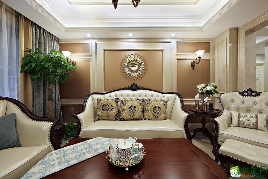 杭州三室两厅两卫装修―都都装饰之江九里欧式风格装修效果图