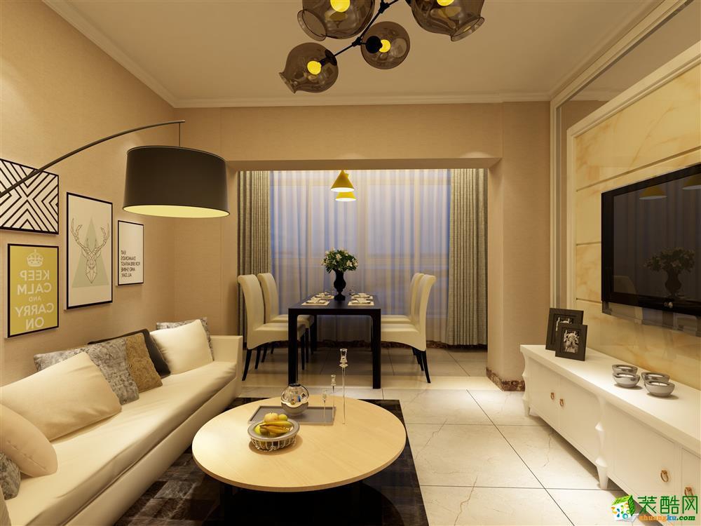 >> 乌鲁木齐 盛世雅苑75平米现代风格两室两厅一厨一卫案例装修效果图