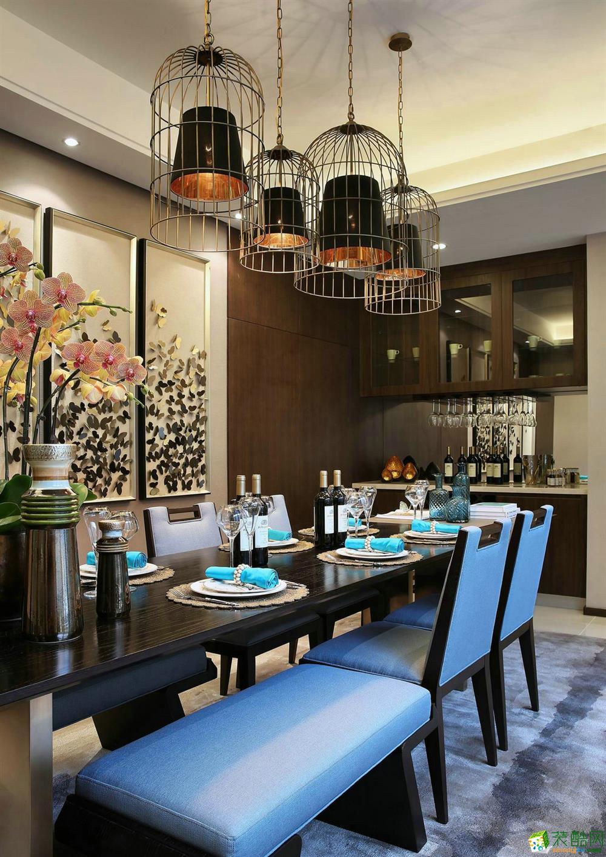 信达蓝庭220平米现代风格别墅住宅案例装修效果图赏析-腾龙设计