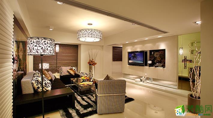 环山国际130平米欧式风格三室两厅一厨两卫案例装修效果图