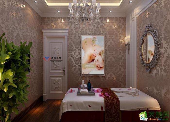 合肥美容院装修―600�O欧式风格美容院装修效果图