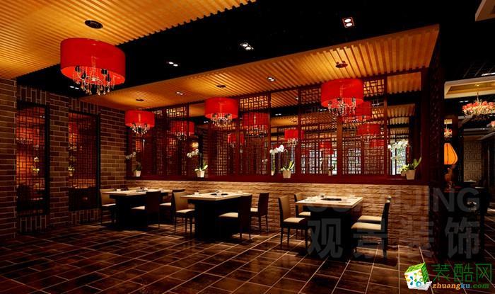 重庆900平米中式风格火锅店案例装修效果图-观景装饰