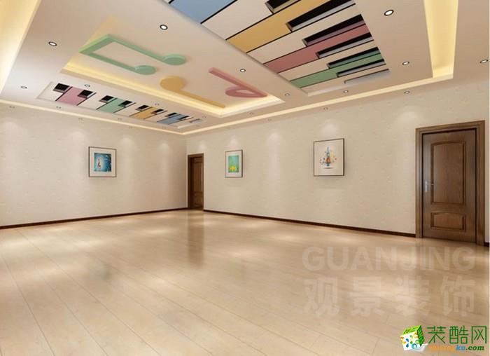 重庆兴舞蹈培训中心教室装修-800平米装修案例 观景