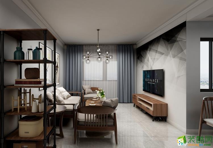 石家庄两室两厅两卫装修―龙头装饰紫晶悦城93�O现代风格作品