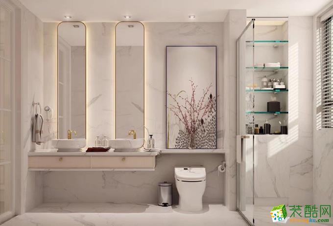 无锡紫苹果装饰-115平米法式两居室装修案例