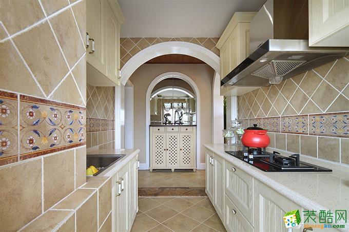 无锡紫苹果装饰-130平米田园三居室装修案例