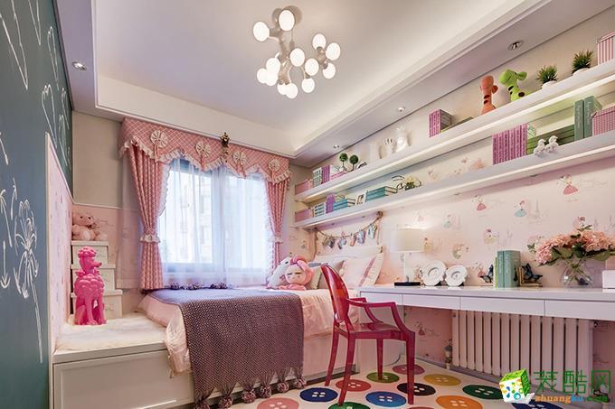 无锡紫苹果装饰-110平米简约两居室装修案例