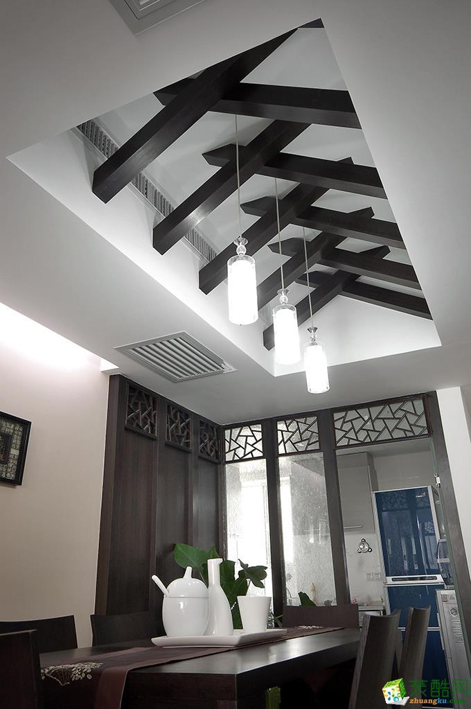 无锡蓝岸装饰-120平米新中式三居室装修案例