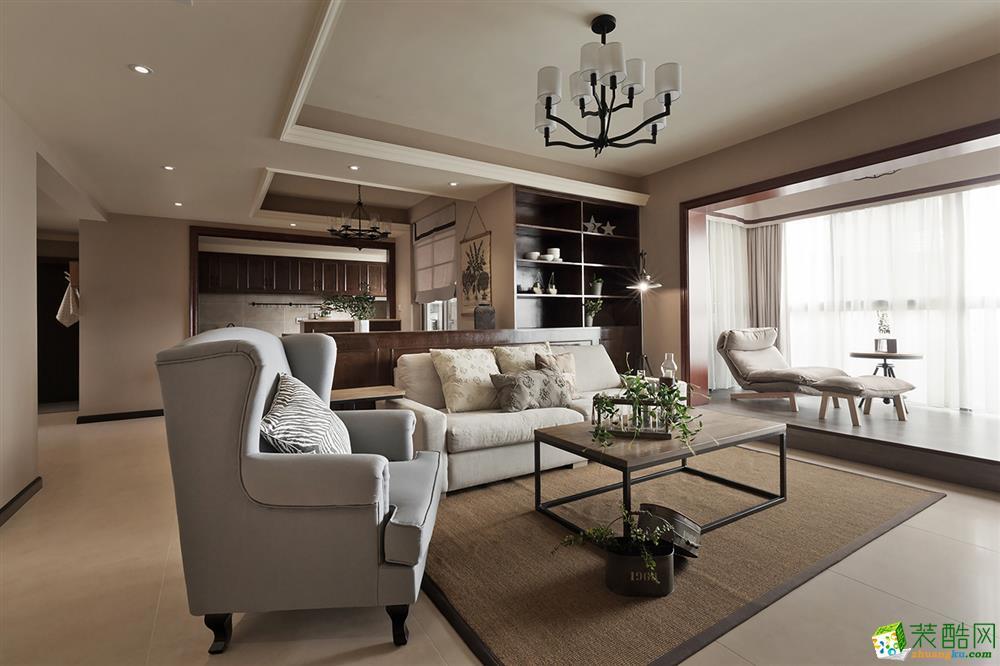无锡创合装饰-120平米美式三居室装修案例
