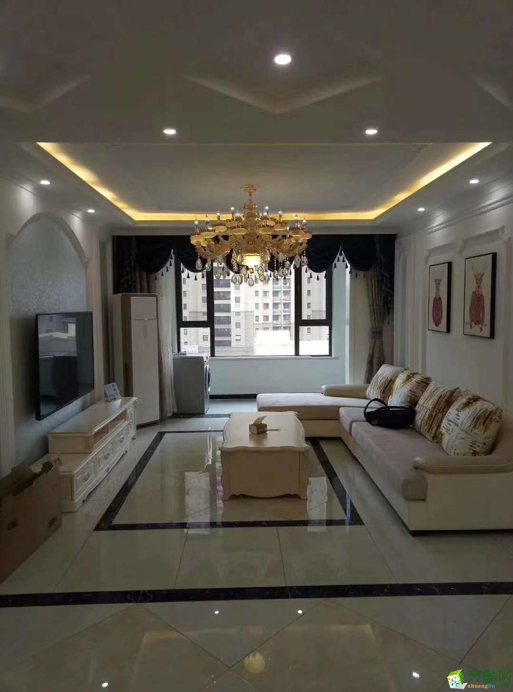 华润二十四城120平米三室两厅一厨两卫实景案例装修想效果图