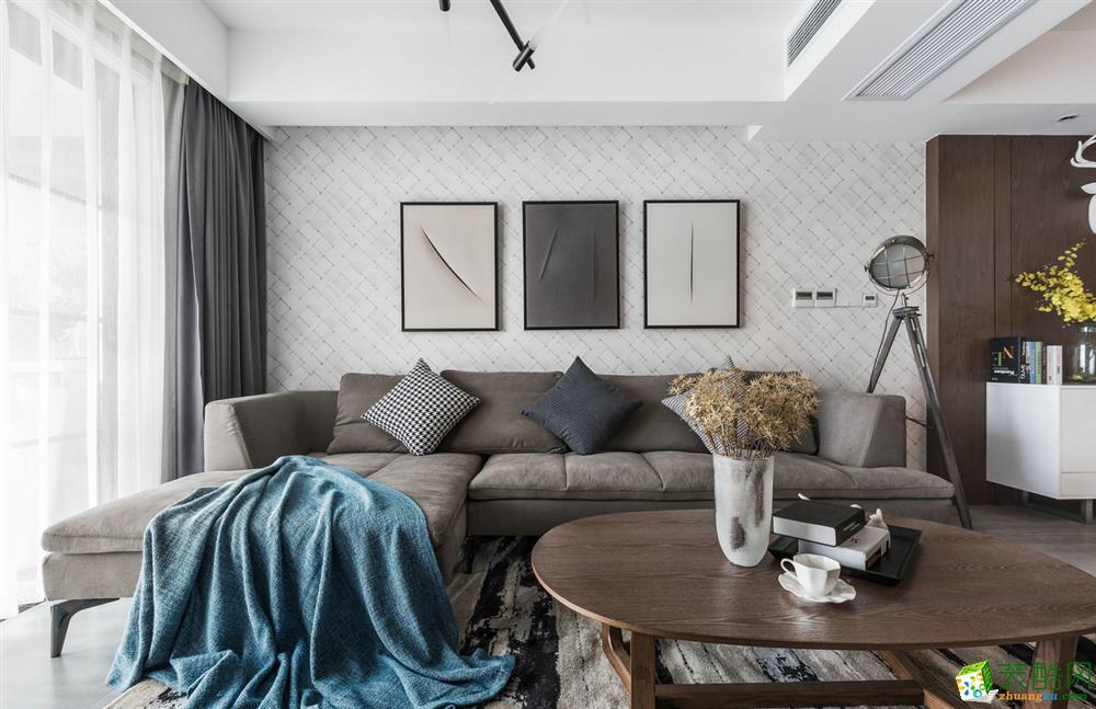 金科云湖天都120平米北欧风格三室两厅一厨一卫案例装修效果图