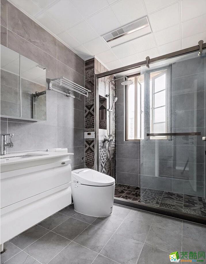 石家庄三室两厅一厨一卫装修―铜城绿都118平现代简约风格作品