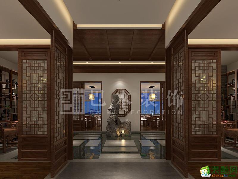 重庆茶楼装修-渝北区300平米茶楼装修案例效果图