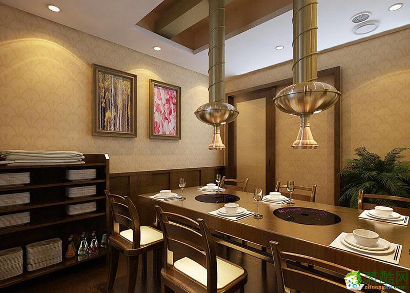 成都燒烤店裝修-成都餐飲店裝修200平米裝修案例效果圖-朗御裝飾