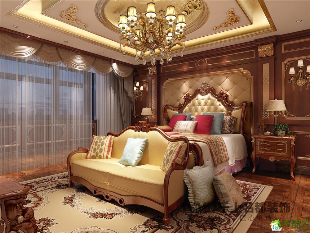 卧室 欧式装修风格的装饰装修设计理念独特,其家具与灯饰都略显欧式