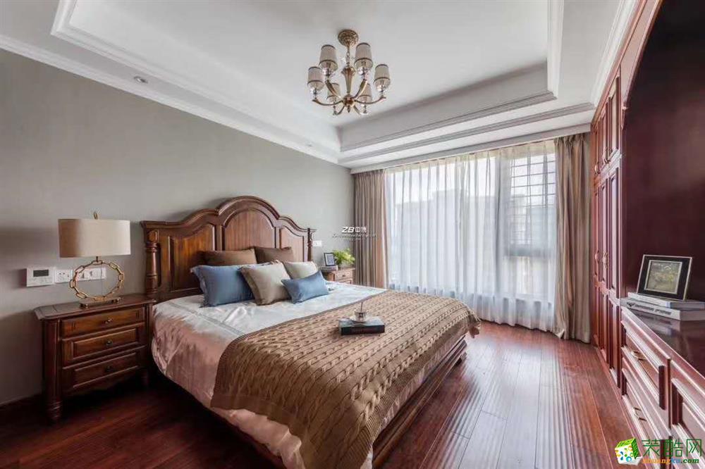 杭州四室两厅两卫装修―中博装饰紫郡西苑160方美式全案设计作品