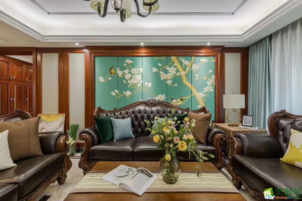 杭州四室两厅两卫装修—中博装饰紫郡西苑160方美式全案设计作品