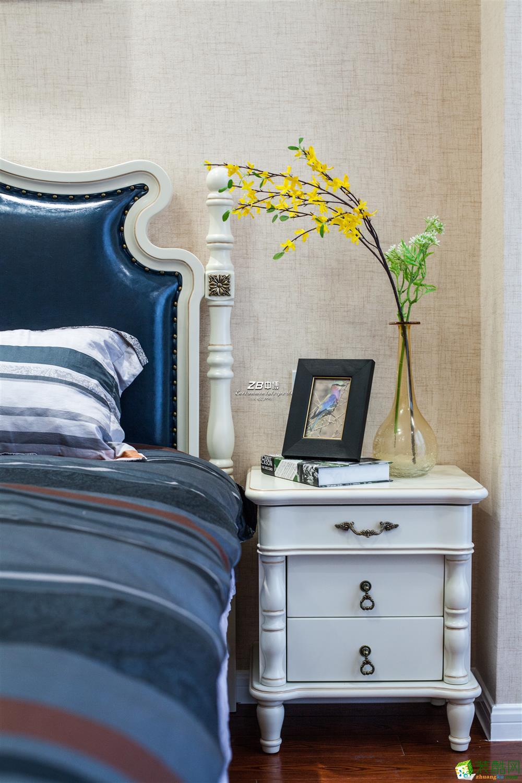 杭州三室两厅装修―中博装饰科尔世纪外滩120平米简美装修效果图