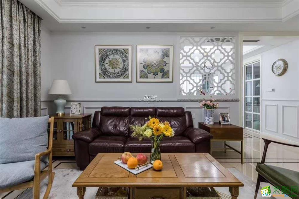 杭州130平米三室两厅全案设计―中博装饰之江一号休闲美式作品