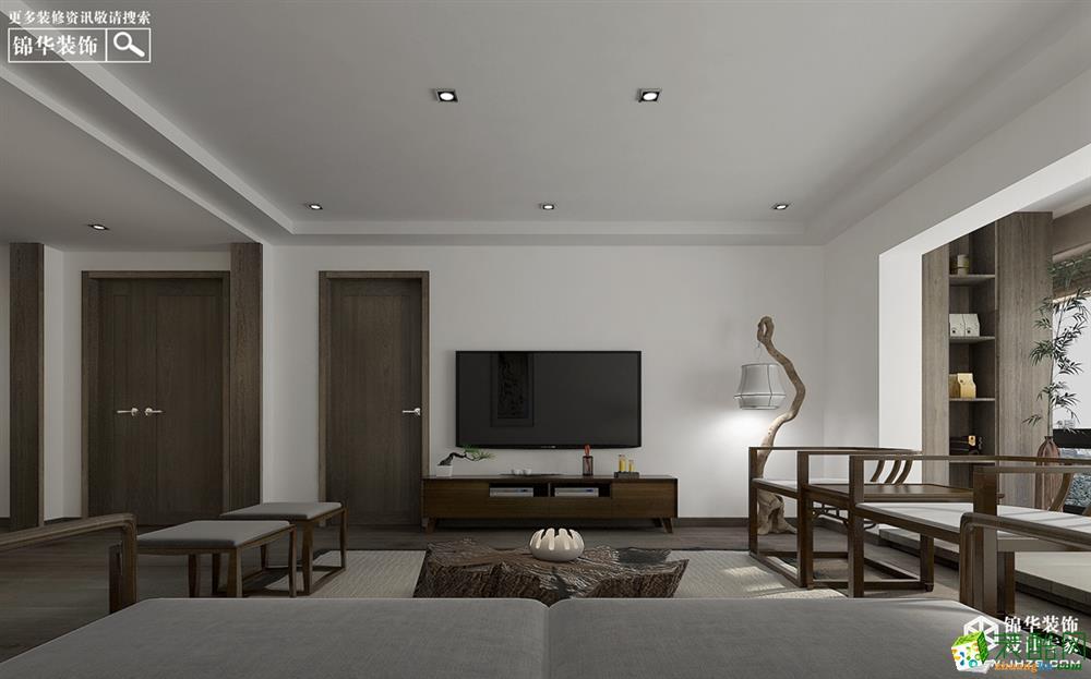 徐州三室兩廳兩衛裝修—尊悅府邸140平方新中式風格實景作品_中式風格-三室兩廳兩衛