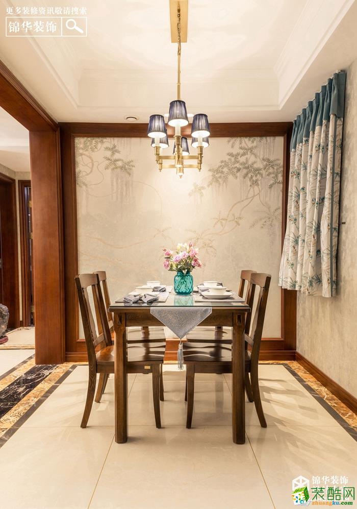 徐州120�O三室两厅两卫装修―绿地柏林公馆简美风格作品